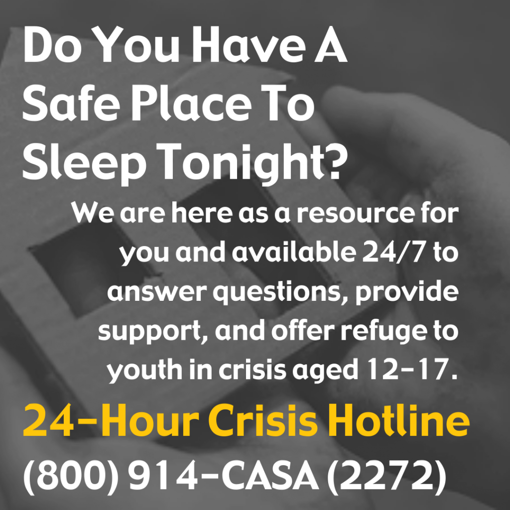 Do you have a safe place to sleep tonight?
